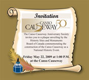 Canso Causeway Plaque Unveiling Invitation